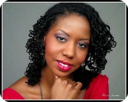 Two strand twist curled with bantu knot out! )