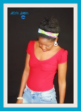 February 2012 - My bun and Headband from Forever 21 with earrings from CEV Fashion