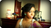 vintage inspired hairstyle with loose twist 2
