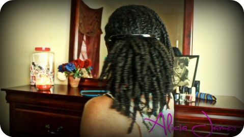 vintage inspired hairstyle with loose twist 3