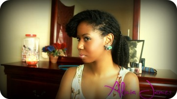 vintage inspired hairstyle with loose twist