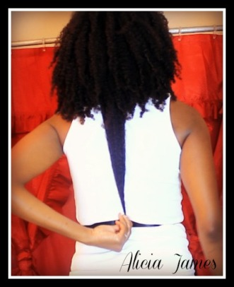 "Waist length ""natural hair"""