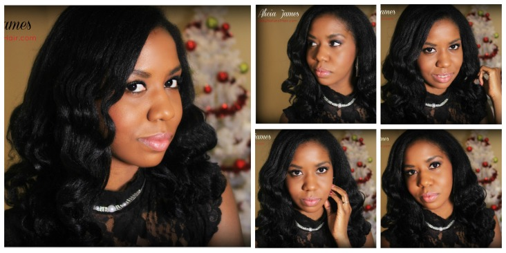 Natural hair flat ironed - Alicia James