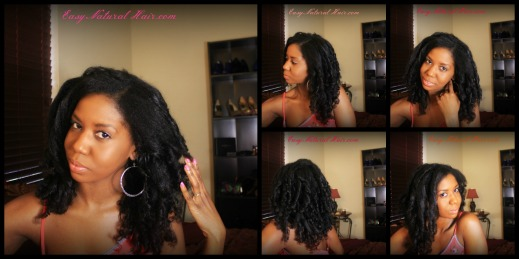 Flexi Rods On Natural Hair Collage