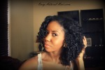 Bantu Knot Out on natural hair Left Side