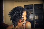 Bantu knot out on natural hair rt side