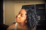 Bantu knot out on natural hair lft side view