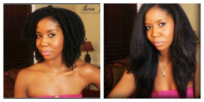 The magic of shrinage - wash and go comparison with flat iron