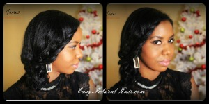 Holiday Natural Hairstyle 2 in 1