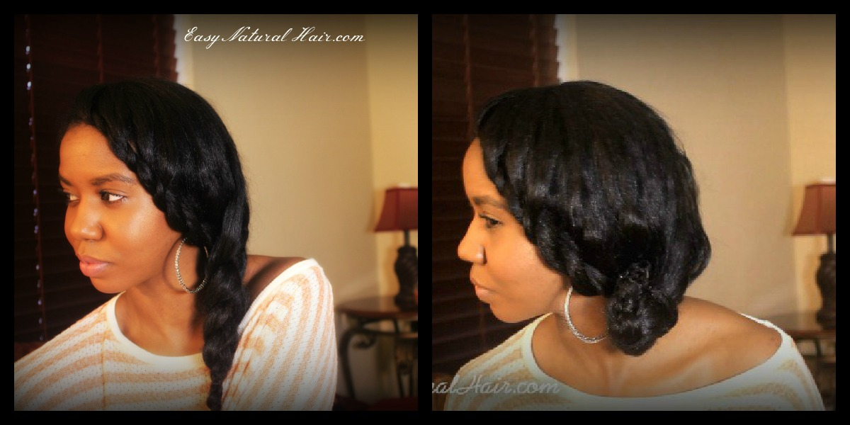 """Flat Twist and Side Braid 2 in 1 Hairstyle On """"Straightened Natural Hair"""""""