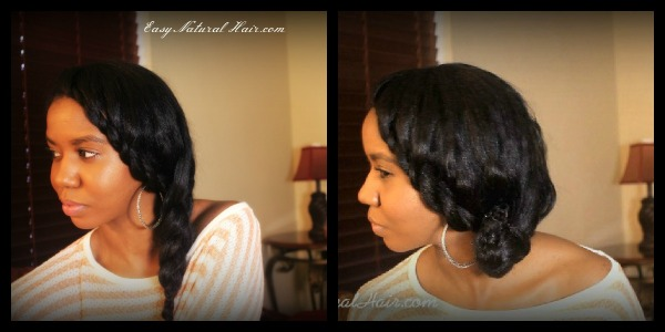 "Flat Twist and Side Braid 2 in 1 Hairstyle On ""Straightened Natural Hair"""