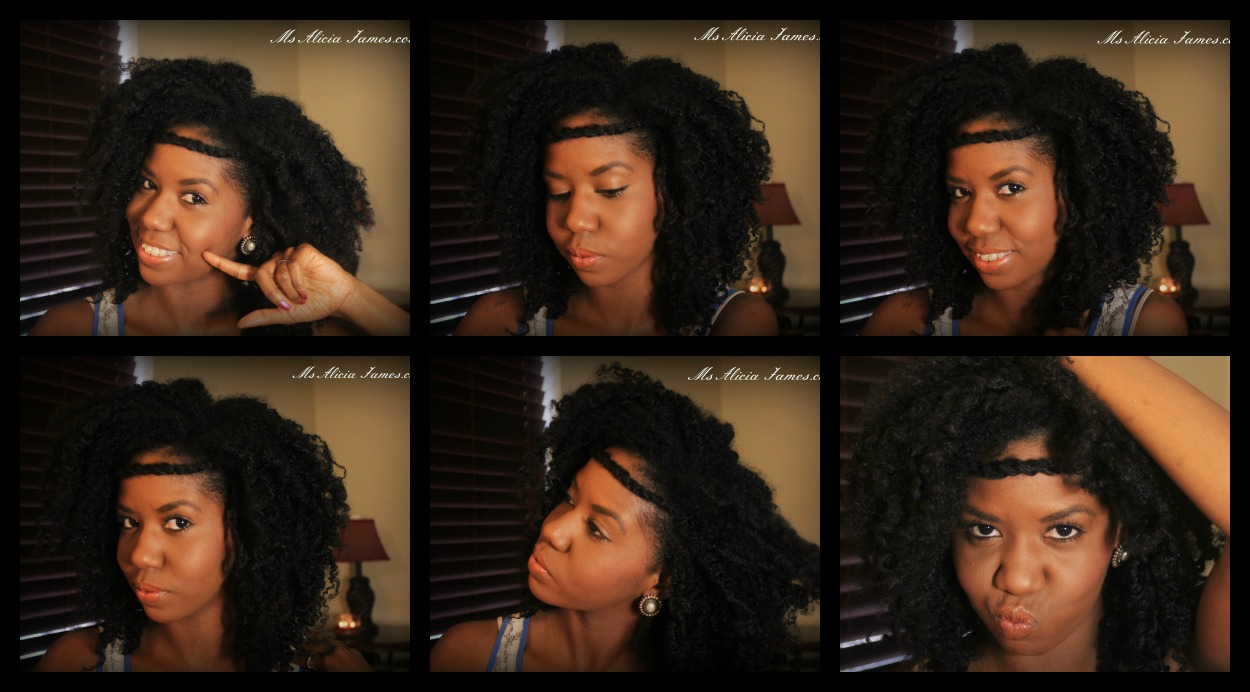 """Natural Hairstyle"" - Twisted Headband on ""Natural Hair"""