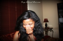 Flat Ironed Natural Hair - Alicia James