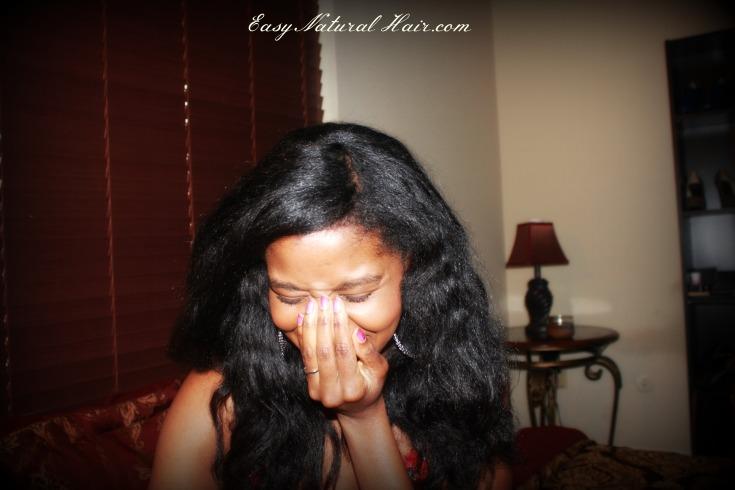 Flat Ironed Natural Hair - Alicia James