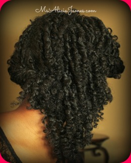 Valentine's Day, Prom, Wedding, Graduation, Special Occasion Hairstyle On My Natural Hair