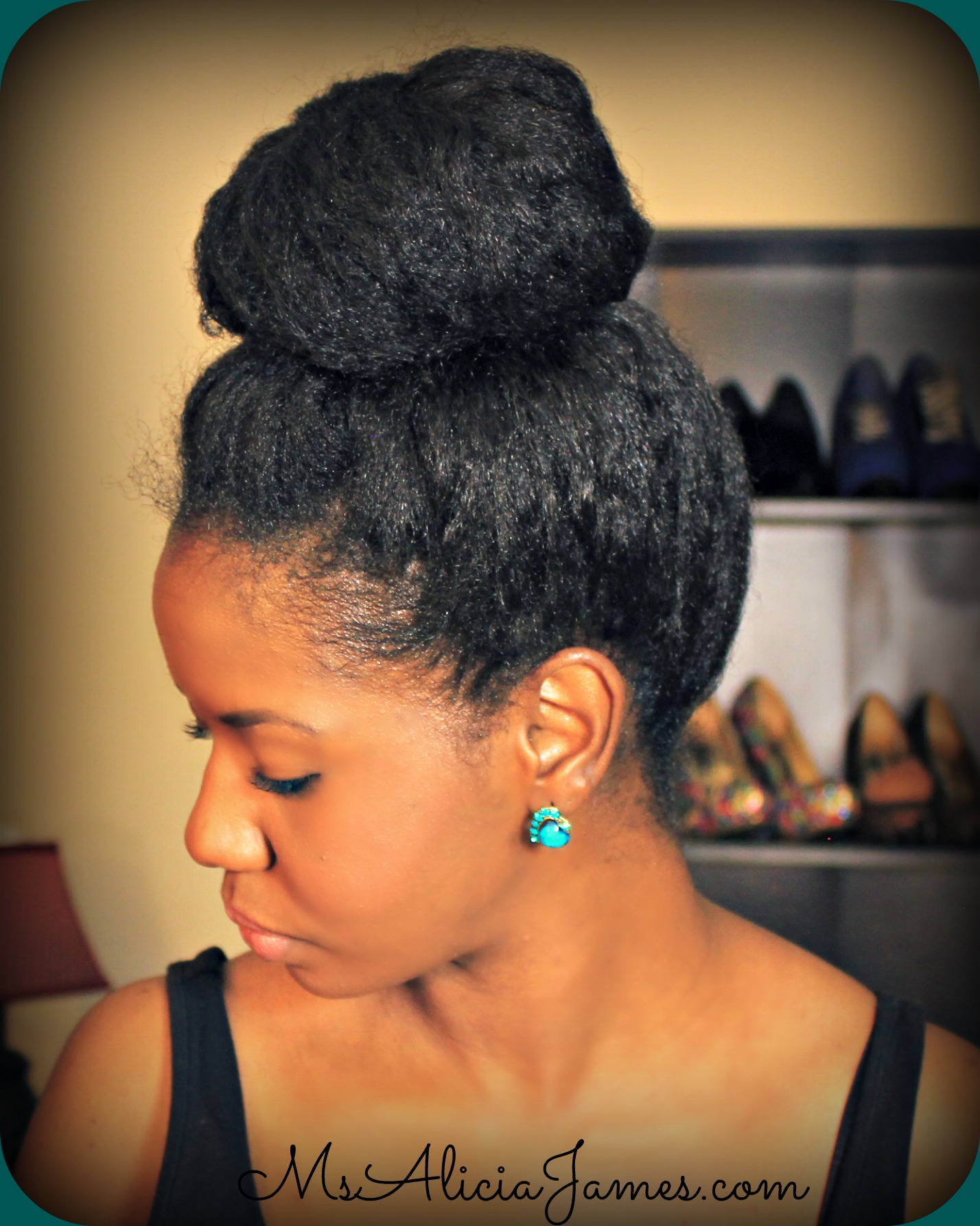 Big High Bun On Natural Hair How To Take Care Of Natural Hair