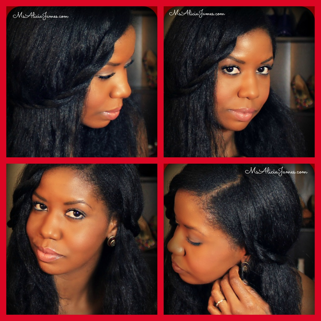 Last Minute Hairstyle on straightened long natural hair
