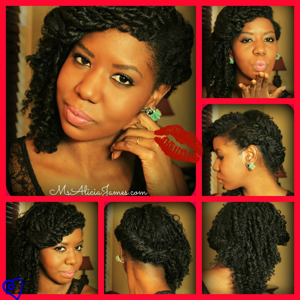 Valentines Day Hairstyle - Straw Curls pin up style - 2013