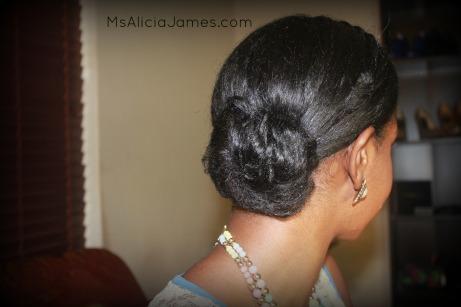 Braided Headband Hairstyle on Long Natural Hair