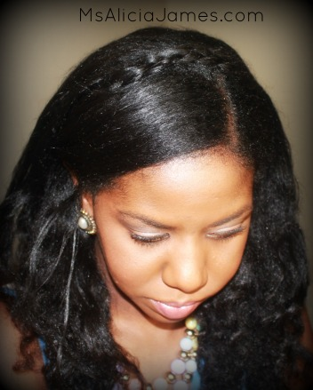Braided Headband Hairstyle on Long Natural Hair