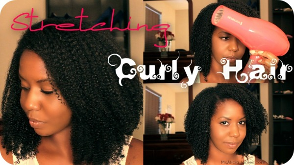 stretching curly hair