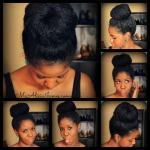 big high bun on natural hair