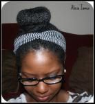 sock bun - Two strand twist styles