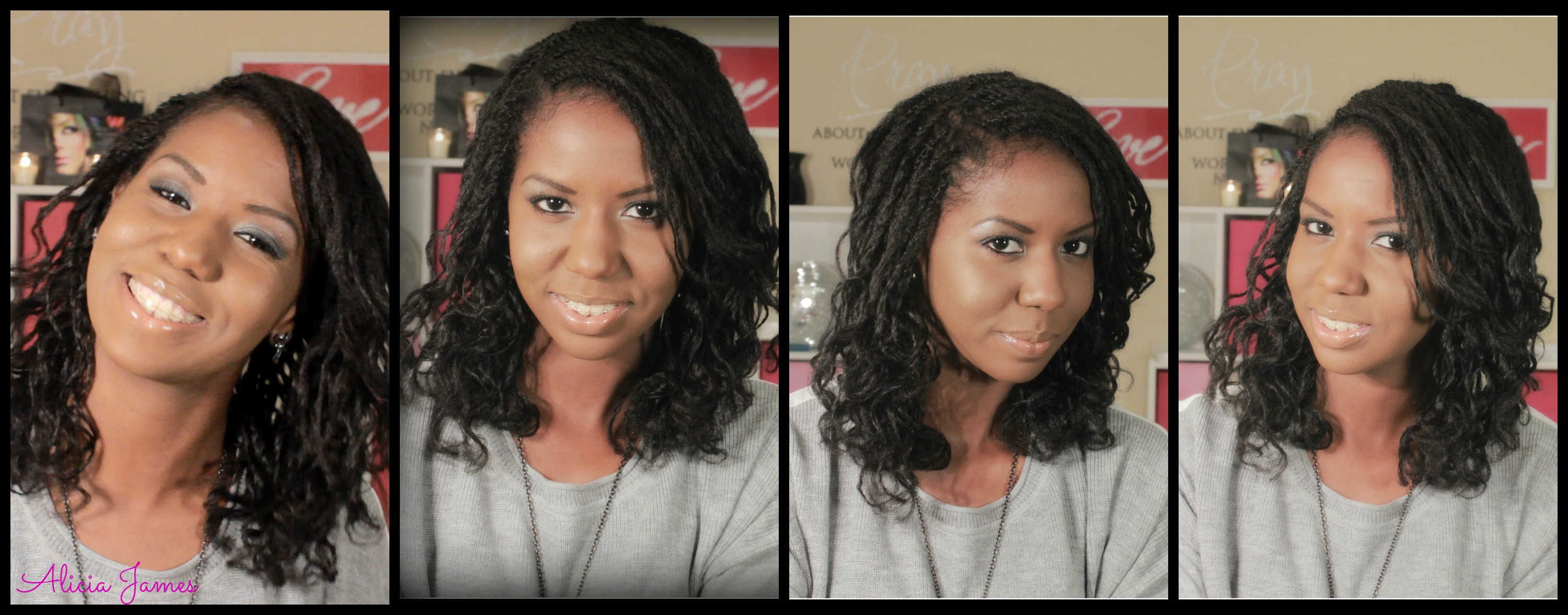 Hairstyle Tryer : Bantu knot out on loose two strand twist  Alicia James, 3000x1177 ...