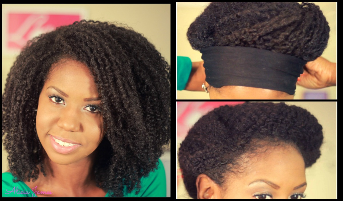 ✦ Night Time Hair Routine ✦ - Day 3 Faux Wash and Go on Natural Hair (Wet Twist Out)