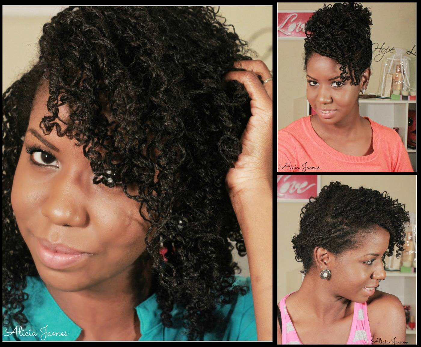 Straw Curls On Two Strand Twist Natural Hairstyle How To
