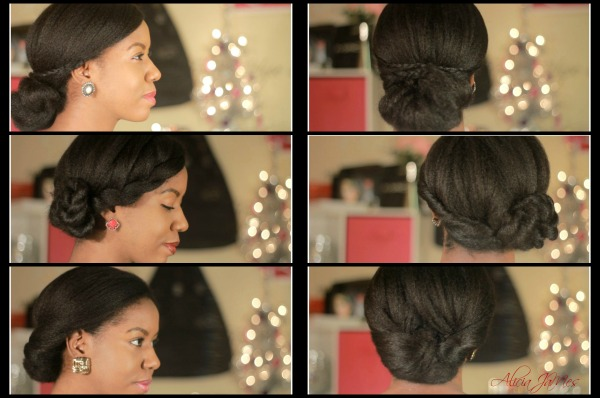 3 simple elegant natural hairstyles - holiday hair - collage