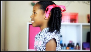 Coils and pigtails on curly hair 2