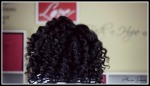 curling wand on natural hair