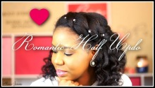 Romantic half updo natural hairstyles - natural hair Picture
