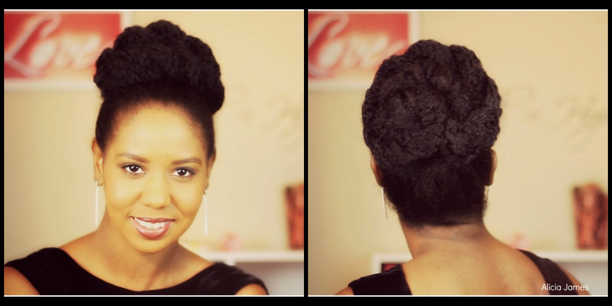 Easy Bun With Marley Twist Hair * Hairstyle *