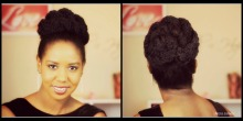 marley twist bun collage