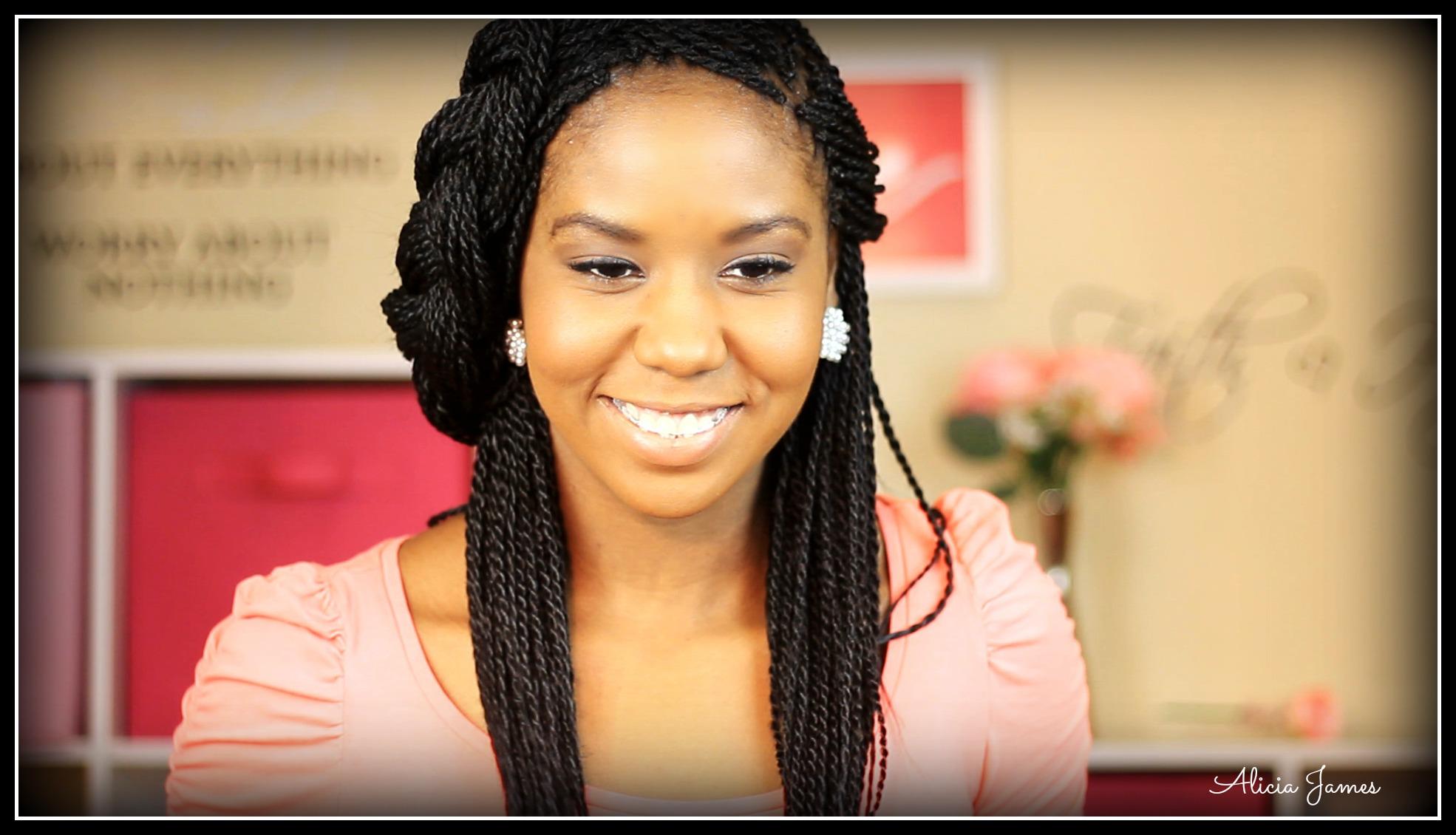 senegalese twist updo hairstyles : Senegalese Twist Updo Hairstyles